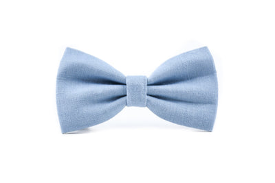 BESPOKE | Light Blue Luxury Linen Bow Tie Danes & Divas
