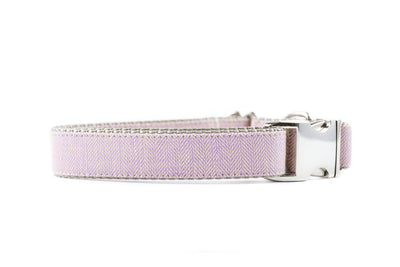 BESPOKE | Lilac Herringbone Luxury Linen Dog Collar Danes & Divas