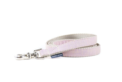 BESPOKE | Lilac Herringbone Luxury Linen Dog Leash Danes & Divas