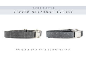 BUNDLE | Grey Graph Check & Pin Dot Collars - Large Danes & Divas®
