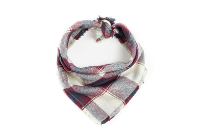 Burgundy Flannel Plaid Bandana Danes & Divas