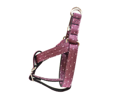 Burgundy Swiss Dots Dog Harness Danes & Divas