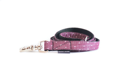 Burgundy Swiss Dots Dog Leash Danes & Divas