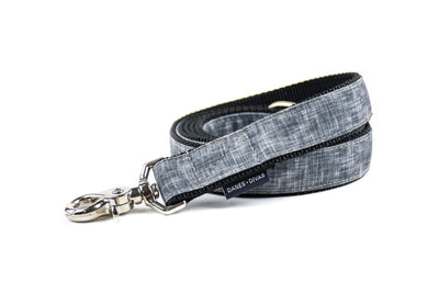 Charcoal Faux Linen Premium Canvas Leash Danes & Divas