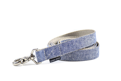 Denim Blue Linen Dog Leash Danes & Divas