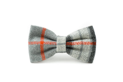 Grey Flannel Plaid Bow tie Danes & Divas