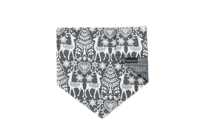 Grey Nordic Deer Reversible Slip On Bandana Danes & Divas