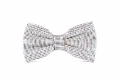 Heather Grey Yarn Dye Linen Bow Tie Danes & Divas
