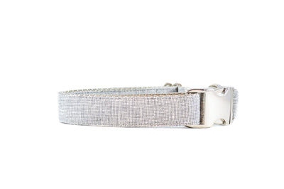 Heather Grey Yarn Dye Linen Dog Collar Danes & Divas