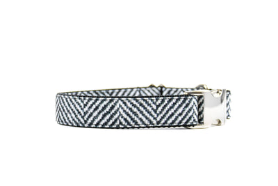 Herringbone Faux Flannel Premium Canvas Collar Danes & Divas