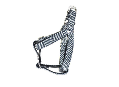 Herringbone Faux Flannel Premium Canvas Dog Harness Danes & Divas