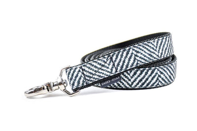 Herringbone Faux Flannel Premium Canvas Leash Danes & Divas