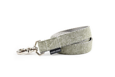 Olive Chambray Linen Dog Leash Danes & Divas