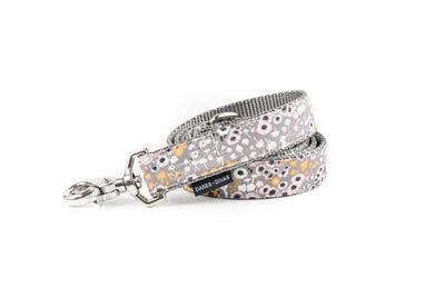 Pale Lavender Floral Dog Leash Danes & Divas