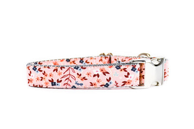 Pink Autumn Botanical Dog Collar Danes & Divas