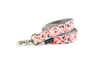 Pink Autumn Botanical Dog Leash Danes & Divas