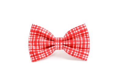Poppy Modern Plaid Dog Bow Tie Danes & Divas