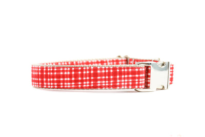 Poppy Modern Plaid Dog Collar Danes & Divas