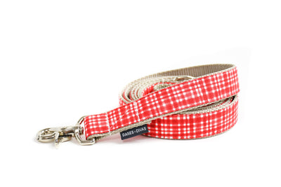Poppy Modern Plaid Dog Leash Danes & Divas