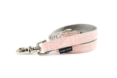 Rose Linen Blend Dog Leash Danes & Divas