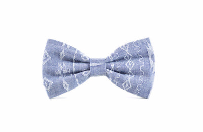 Southwest Chambray Dog Bow Tie Danes & Divas