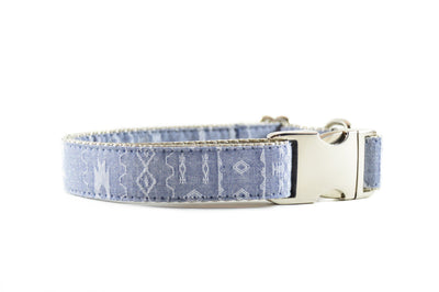 Southwest Chambray Dog Collar Danes & Divas