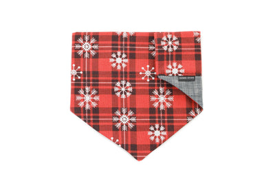 Vintage Holiday Plaid Reversible Slip On Bandana Danes & Divas