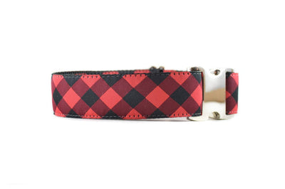 WIDE | Buffalo Plaid Dog Collar Danes & Divas