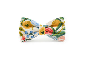 Wildwood Floral Canvas Dog Bow Tie Danes & Divas