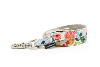 Wildwood Floral Canvas Dog Leash Danes & Divas