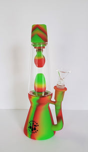 "8"" LIT Silicone and Glass Lava Lamp Bong"