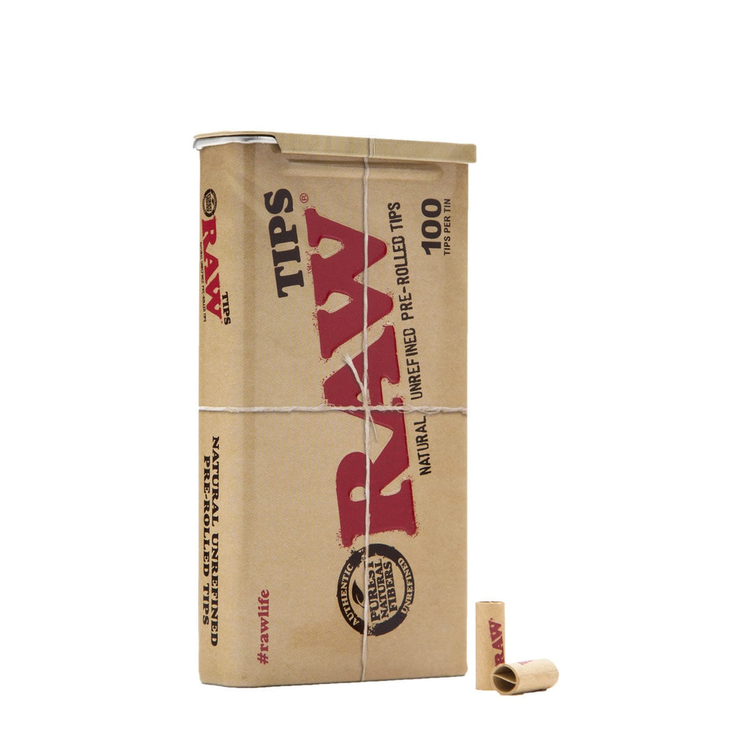 RAW Pre Rolled Tips Tin of 100