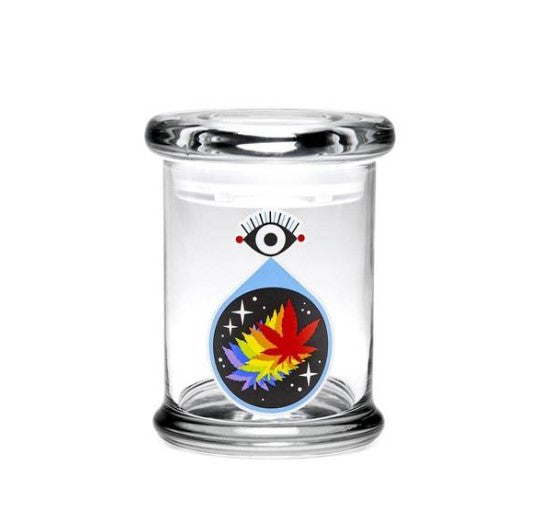 420 Science Pop Top Jar Medium All Seeing Eye