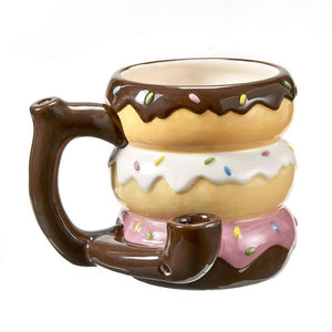 Ceramic Donuts Coffee Mug Pipe