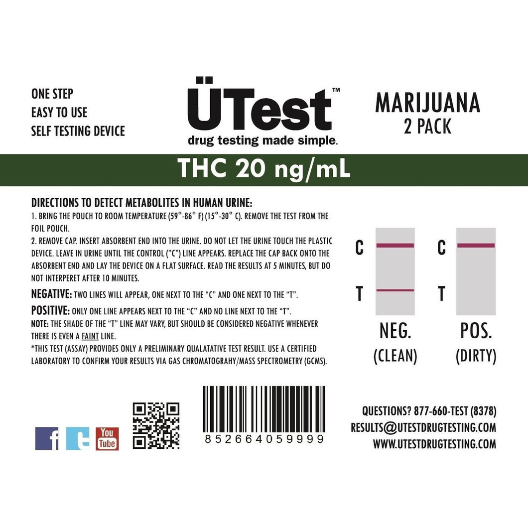 Test THC 200ng/mL (2 pack)