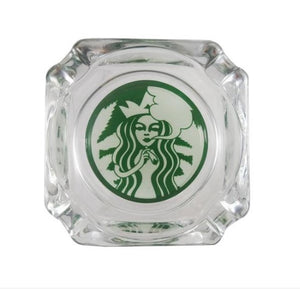 "Ash Tray 3.75"" x 3.75"" Glass Starbud"