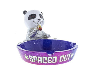 "Ash Tray 6"" x 4"" x 3"" Polyresin Spaced Out Panda"
