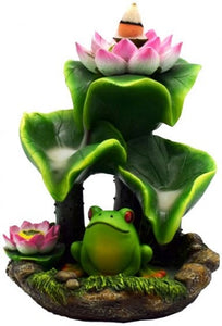 Backflow Incense Burner Frog & Lily Pad