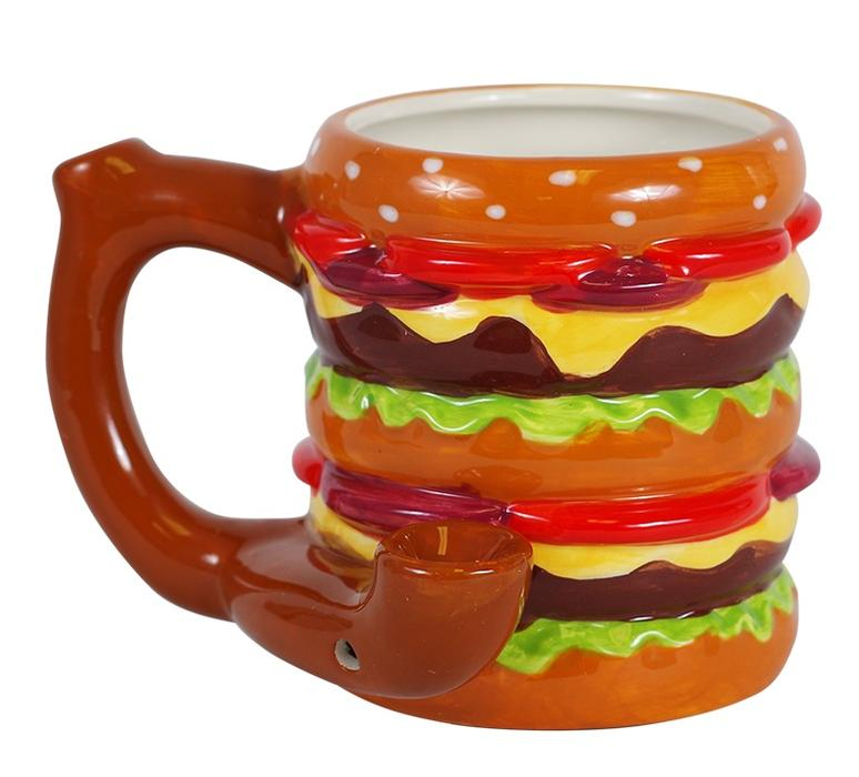 Ceramic Cheeseburger Coffee Mug Pipe