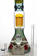 "Load image into Gallery viewer, 16"" Guns N' Roses Licensed Bong with 8 Arm Tree Perc"