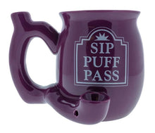 Load image into Gallery viewer, Ceramic Sip Puff Pass 11oz Coffee Mug Pipe
