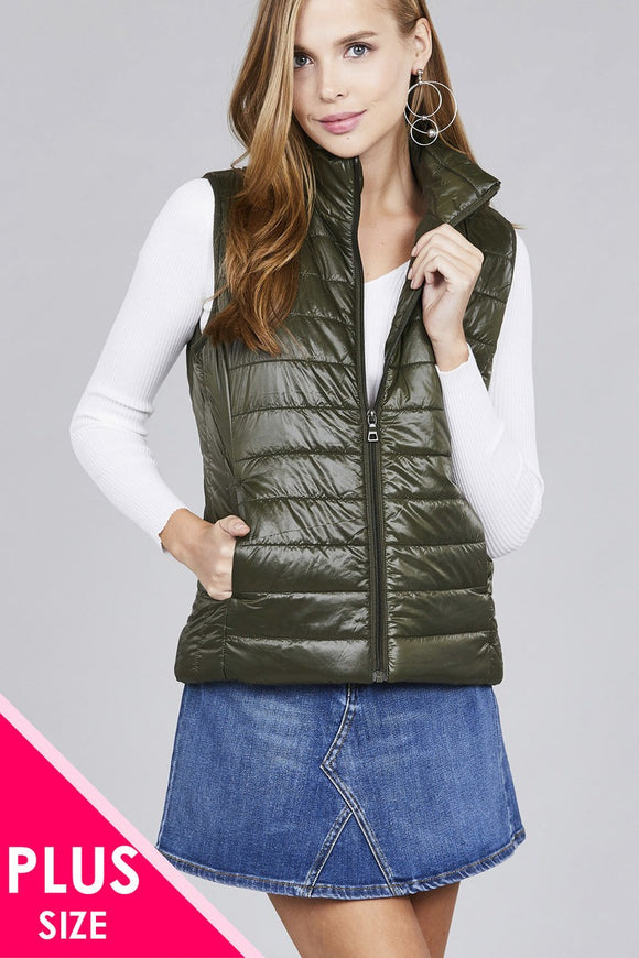 Fashion Plus Size Quilted Vest