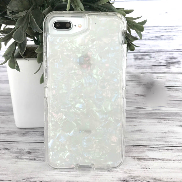 White Iridescent Phone Case