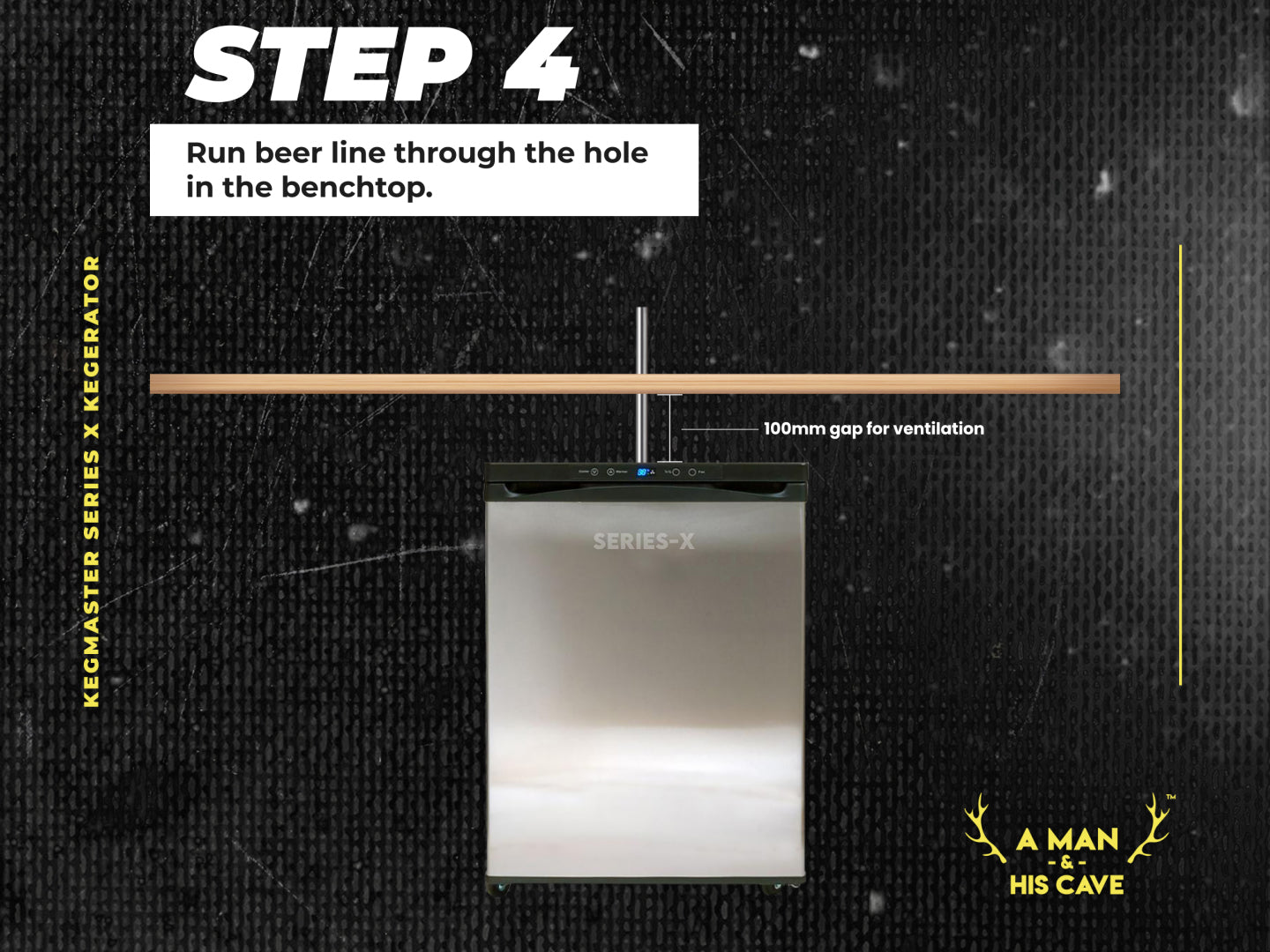 Step 4: Run Your Beer Lines Through the Hole in Your Bench Top
