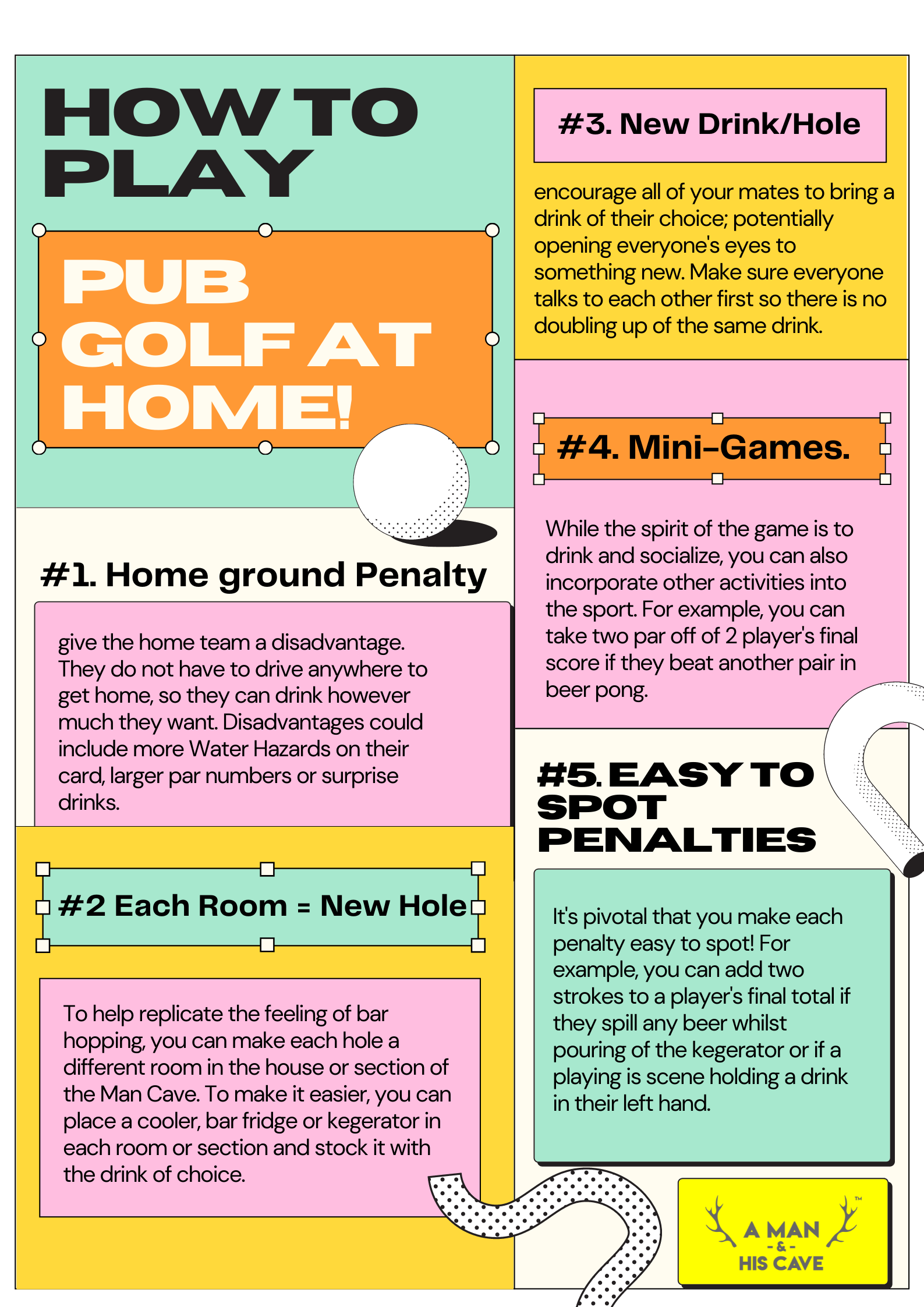 How to Use Your Man Cave to Play Pub Golf: Everything Explained Rules