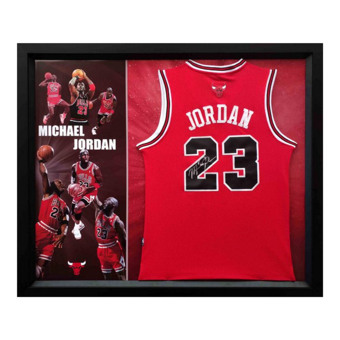 Michael Jordan Personally Signed Red Chicago Bulls Jersey