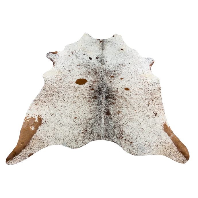 Rug - SPECKLED BROWN LIGHT - BROWN & WHITE COLOURED LARGE PREMIUM COWHIDE RUG