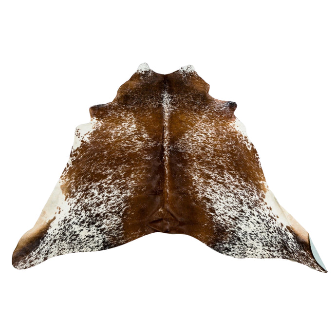 Rug - SPECKLED BROWN DARK - BROWN & WHITE COLOURED LARGE PREMIUM COWHIDE RUG
