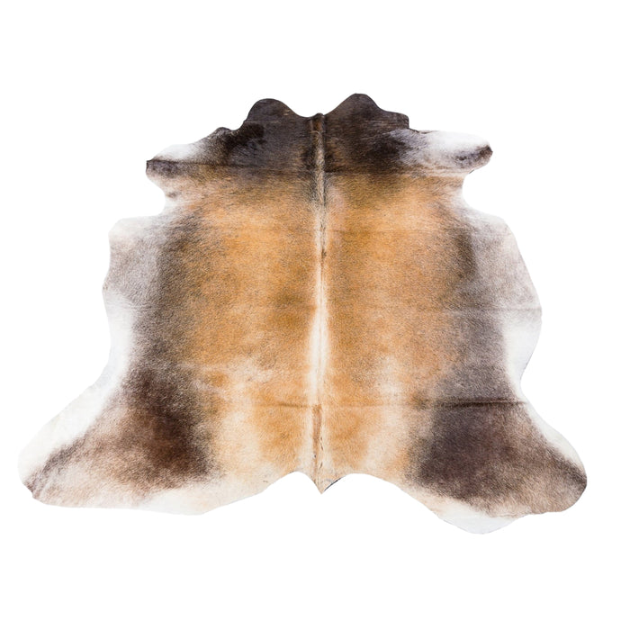 Rug - RANCHO LIGHT - LIGHT BROWN & GOLD COLOURED LARGE PREMIUM COWHIDE RUG
