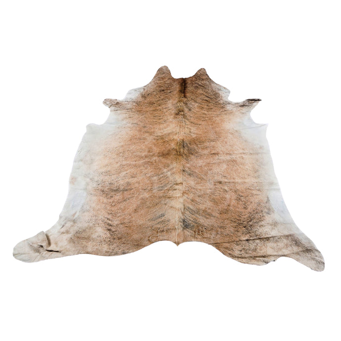 Rug - MEDIUM BRINDLE - TAN COLOURED LARGE PREMIUM COWHIDE RUG